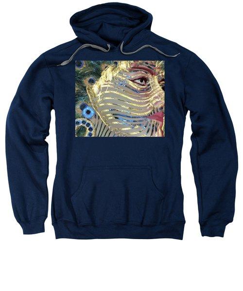 Mask A Golden Peacock Sweatshirt