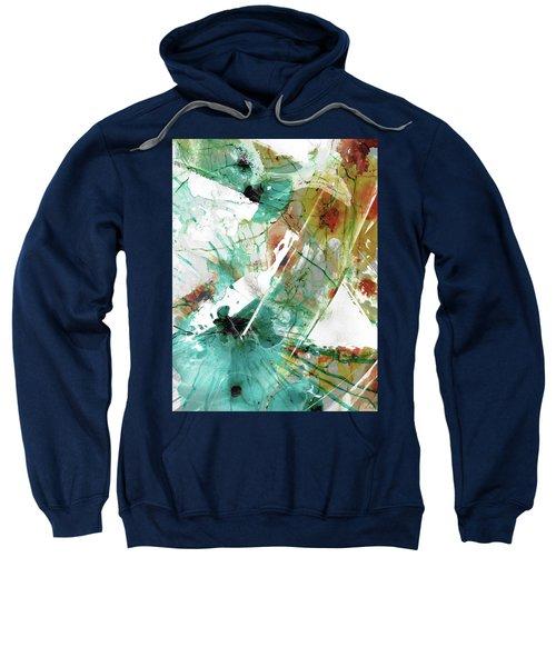 Modern Abstract Art - Chances - Sharon Cummings Sweatshirt