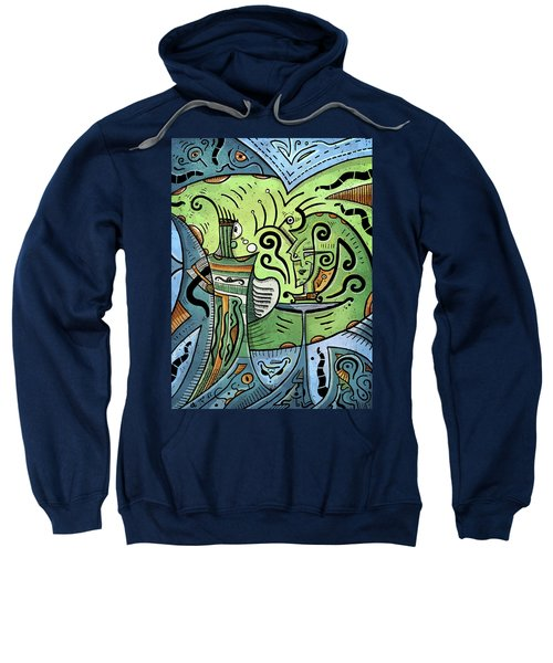 Sweatshirt featuring the painting Mystical Powers by Sotuland Art
