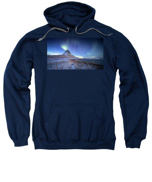 Northern Lights Atop Kirkjufell Iceland Sweatshirt
