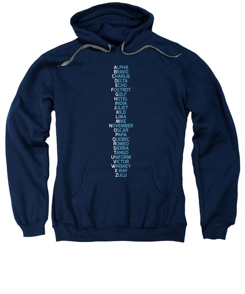 Phonetic Alphabet Navy Blue Sweatshirt