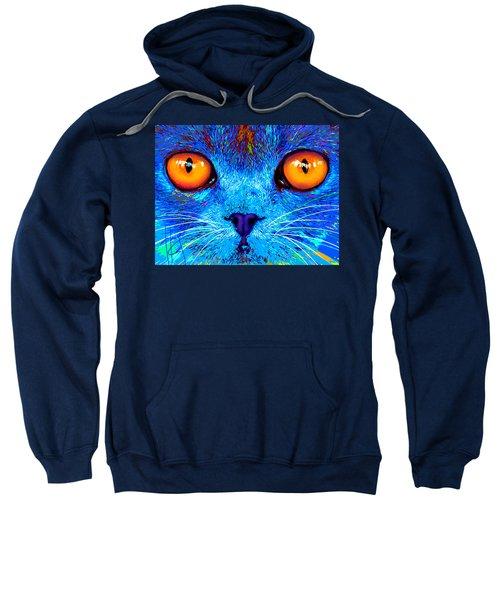 pOpCat Boe - Big Orange Eyes Sweatshirt