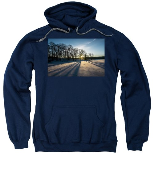Pretty Winter Sun Rise Scene Sweatshirt