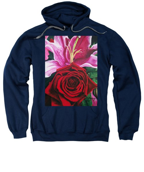 Scarlet Knight And A  Lily  Sweatshirt
