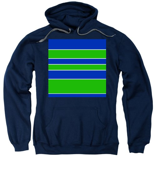 Stacked - Navy, White, And Lime Green Sweatshirt