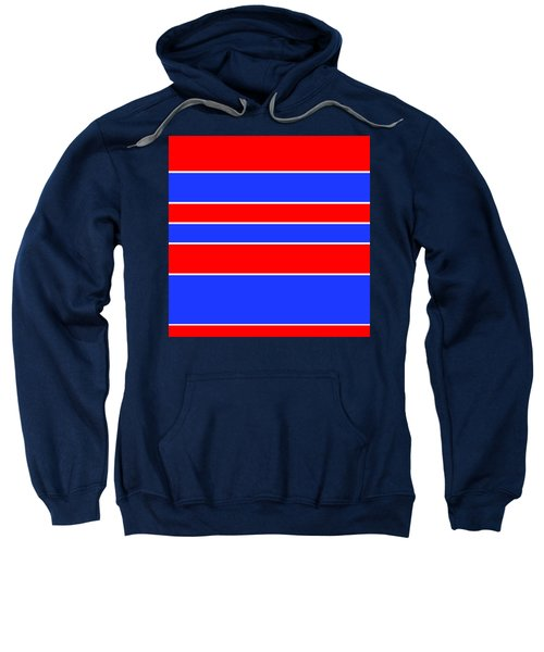 Stacked - Red, White And Blue Sweatshirt