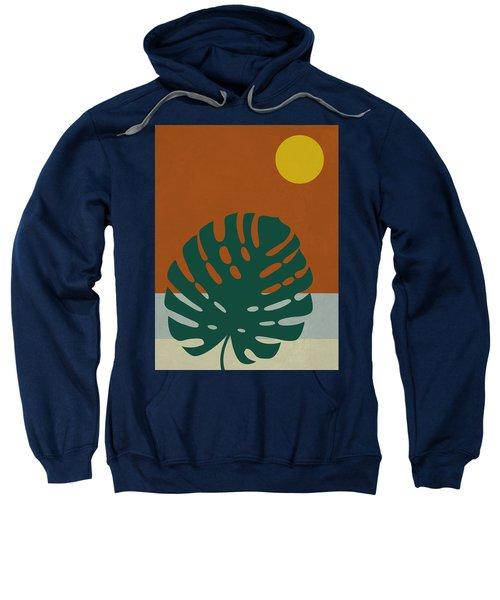 Tropical Leaf And Blue Moon Sweatshirt