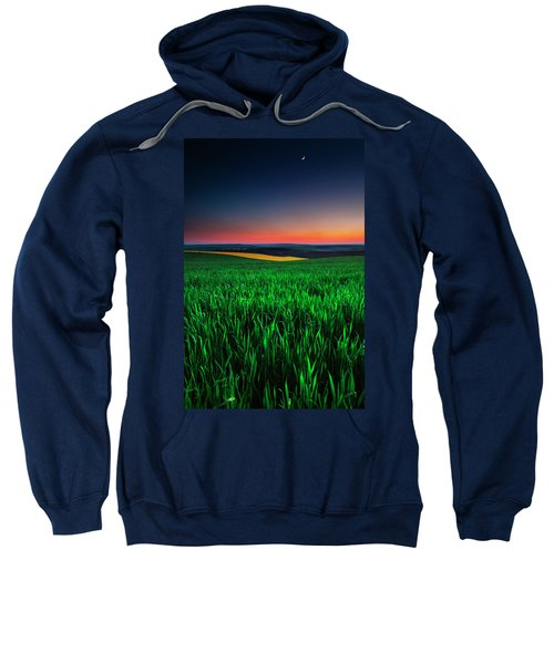 Sweatshirt featuring the photograph Twilight Fields by Evgeni Dinev