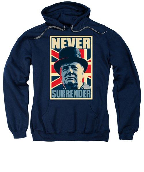 Winston Churchill Never Surrender Sweatshirt