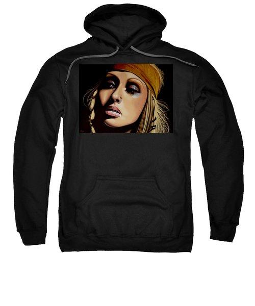 Christina Aguilera Painting Sweatshirt
