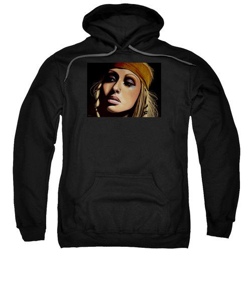 Christina Aguilera Painting Sweatshirt