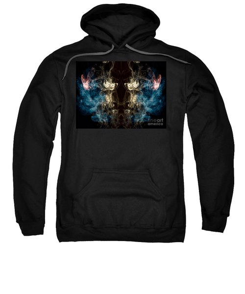 Minotaur Smoke Abstract Sweatshirt by Edward Fielding