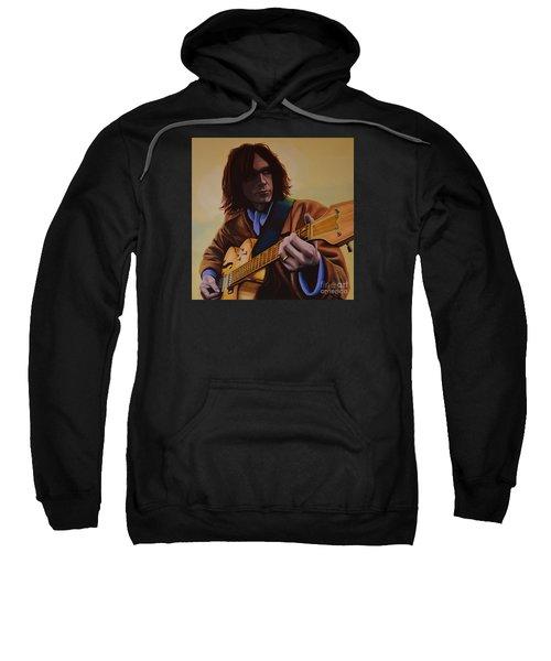 Neil Young Painting Sweatshirt by Paul Meijering