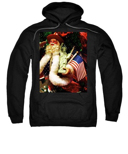 Patriotic Santa Sweatshirt
