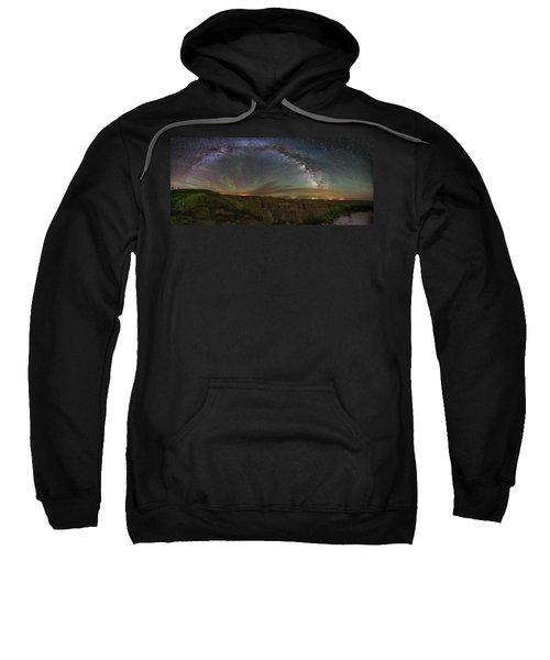 Pinnacles Overlook At Night Sweatshirt