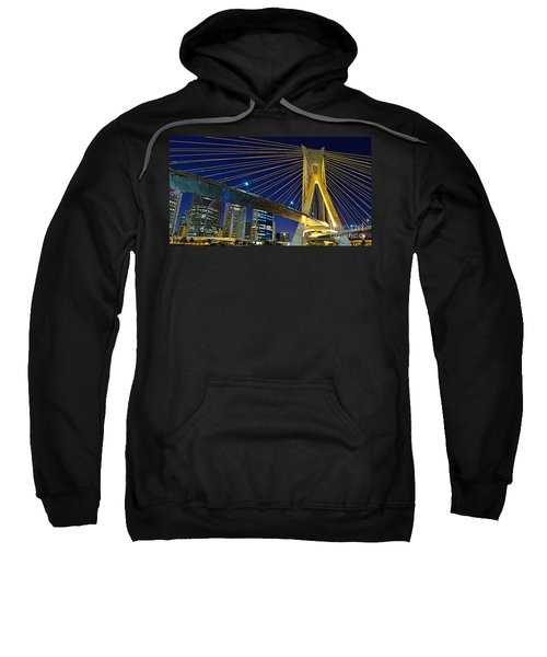 Sao Paulo's Iconic Cable-stayed Bridge  Sweatshirt