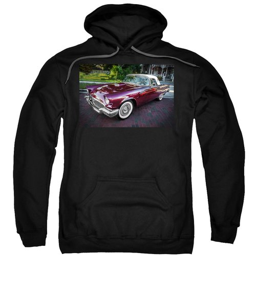 1957 Ford Thunderbird Convertible Painted    Sweatshirt
