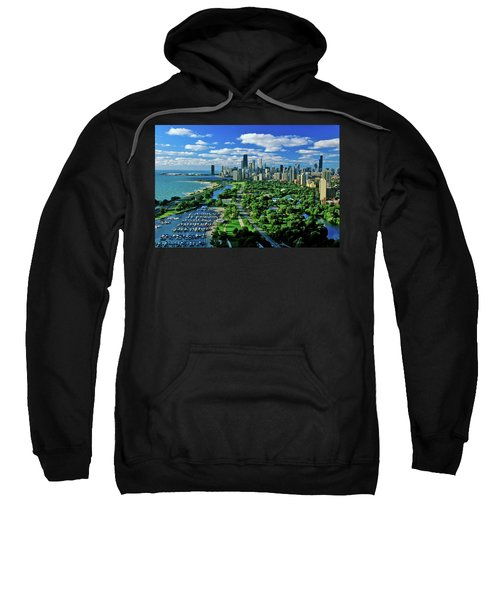 Aerial View Of Chicago, Illinois Sweatshirt