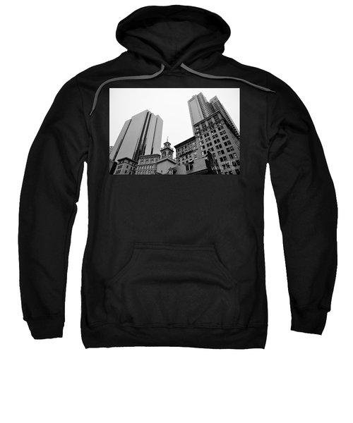 Boston Cityscape Black And White Sweatshirt