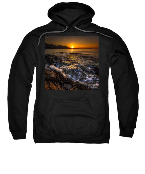 Chamoso Point In Ares Estuary Galicia Spain Sweatshirt