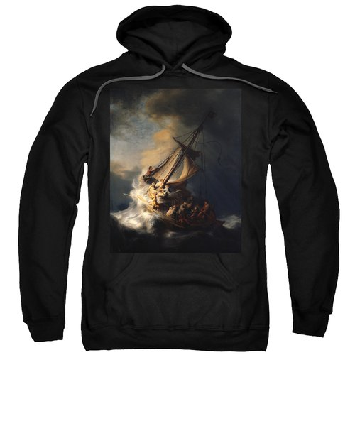 Christ In The Storm On The Sea Of Galilee Sweatshirt