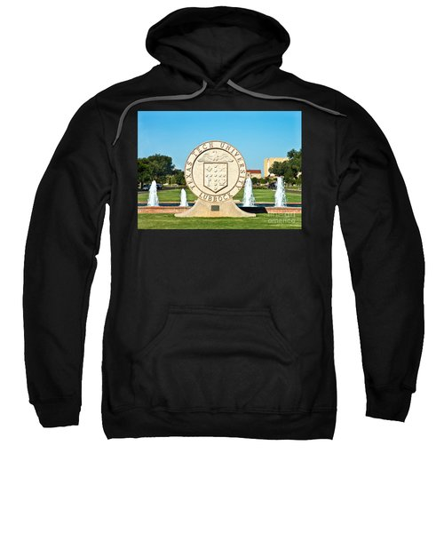 Sweatshirt featuring the photograph Classical Image Of The Texas Tech University Seal  by Mae Wertz