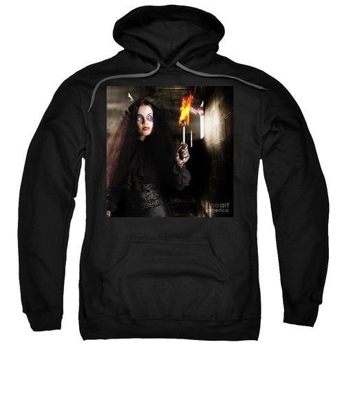 Dark Ages Jester Searching A Mysterious Castle Sweatshirt