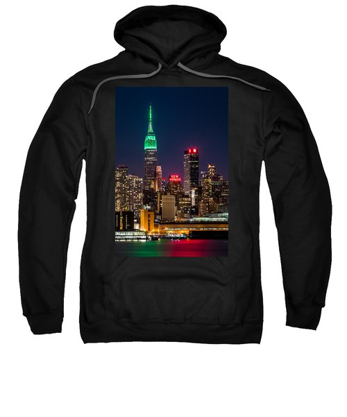 Empire State Building On Saint Patrick's Day Sweatshirt