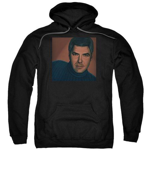 George Clooney Painting Sweatshirt