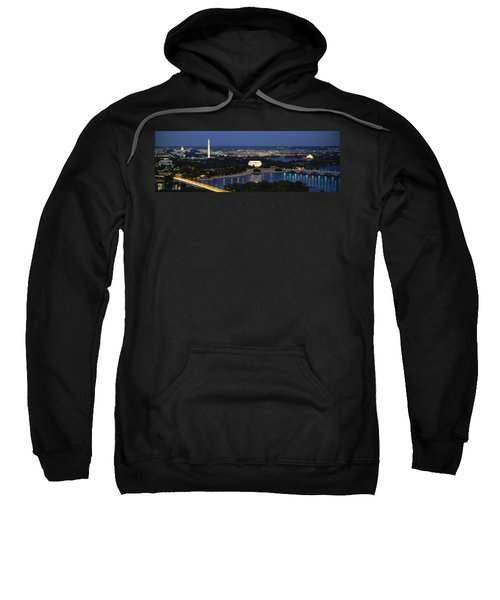High Angle View Of A City, Washington Sweatshirt by Panoramic Images