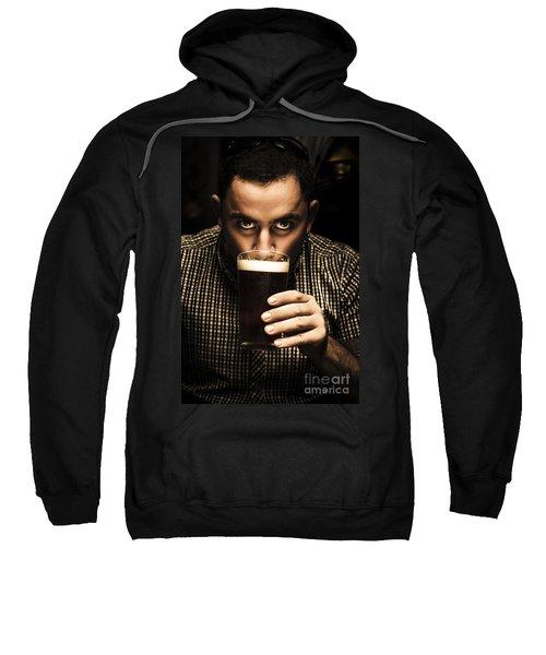 Irish Man Drinking Beer On St Patricks Day Sweatshirt