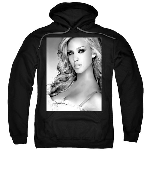#1 Jessica Alba Sweatshirt by Alan Armstrong