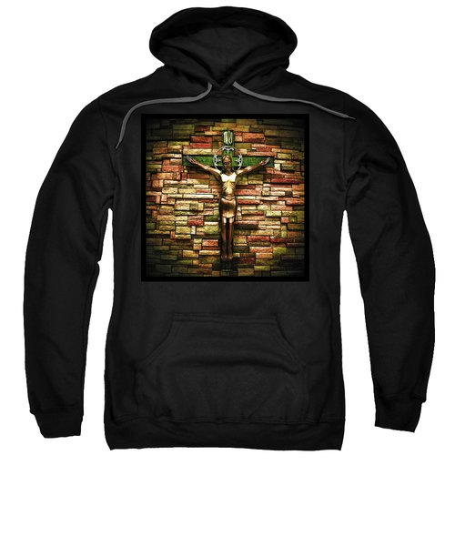 Jesus Is His Name Black Border Sweatshirt