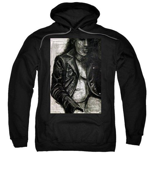 Leather Jacket Sweatshirt