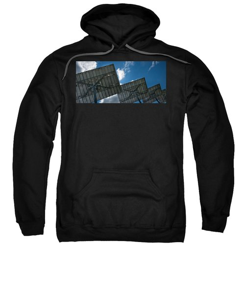 Low Angle View Of Solar Panels Sweatshirt