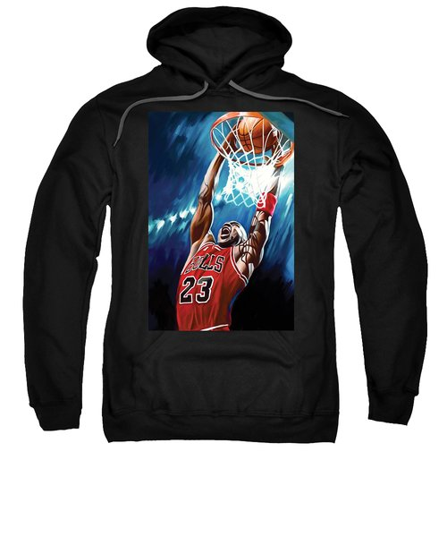 Michael Jordan Artwork Sweatshirt by Sheraz A