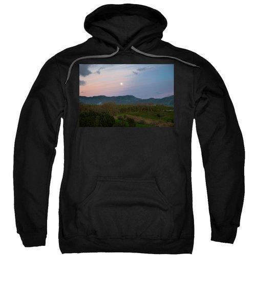 Moon Over The Hills Of Povoacao Sweatshirt