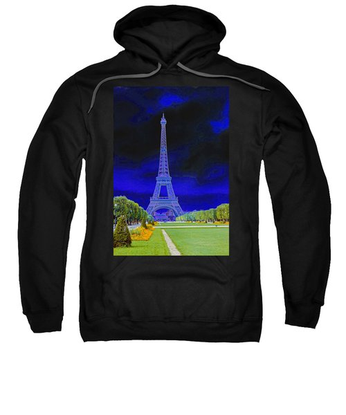 Purple Eiffel Sweatshirt