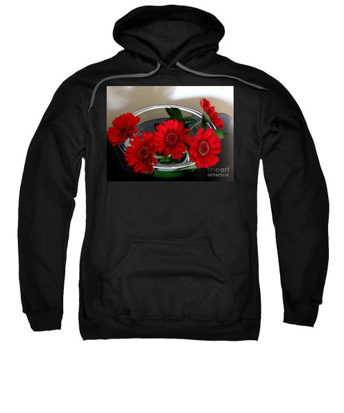 Red Flowers. Special Sweatshirt