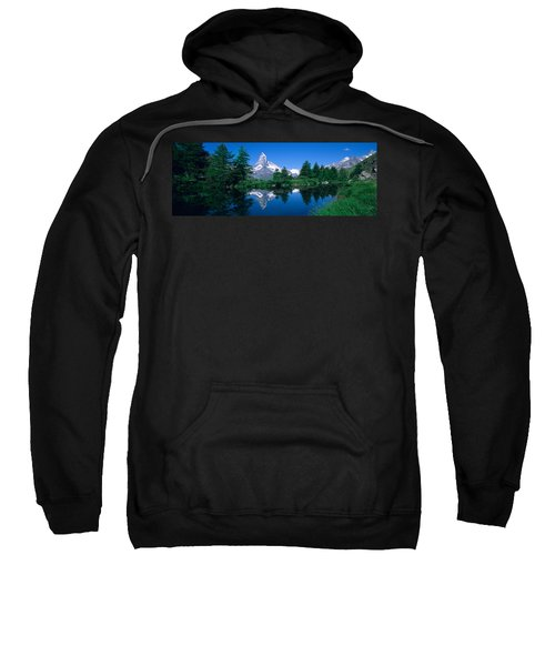 Reflection Of A Snow Covered Mountain Sweatshirt