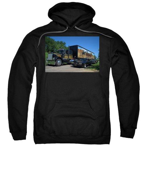 Smokey And The Bandit Tribute 1973 Kenworth Semi Truck And The Bandit Sweatshirt