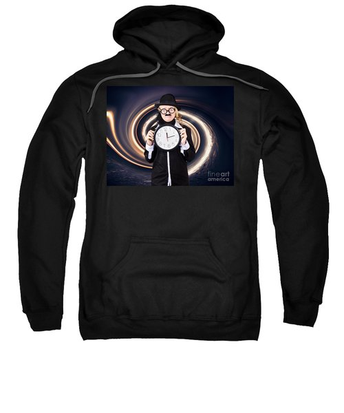 Space Astronomer Getting Sucked Into A Black Hole Sweatshirt