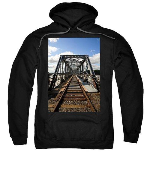 Steel Railway Bridge Over The River Sweatshirt