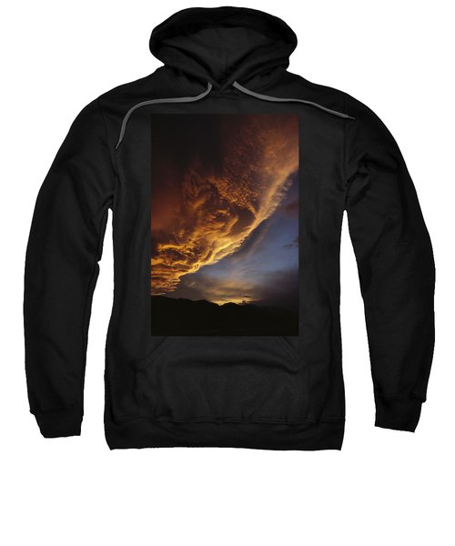 Sunset On Storm Clouds Near Mt Cook Sweatshirt