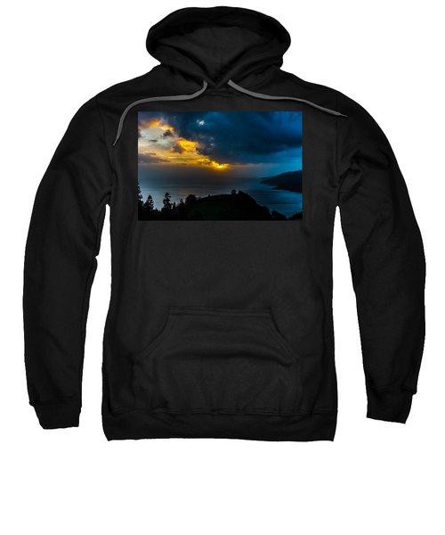 Sunset Over Blue Sweatshirt
