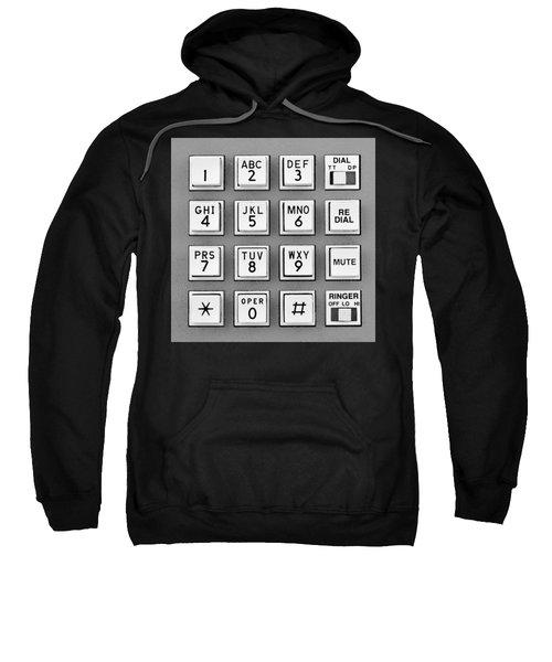Telephone Touch Tone Keypad Sweatshirt