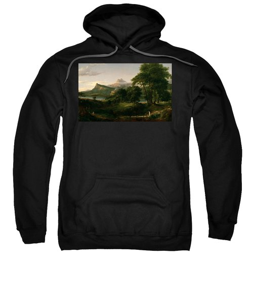 The Course Of Empire The Arcadian Or Pastoral State Sweatshirt