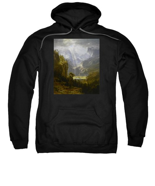 Sweatshirt featuring the painting The Rocky Mountains Lander's Peak by Celestial Images