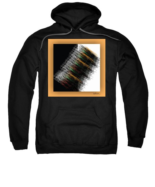 Sweatshirt featuring the digital art Tourbillon by Mihaela Stancu