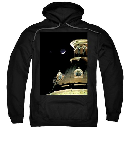 Venus And Crescent Moon-1 Sweatshirt
